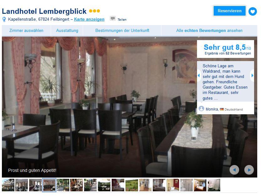 Hotel Lembergblick Bewertung Booking.com